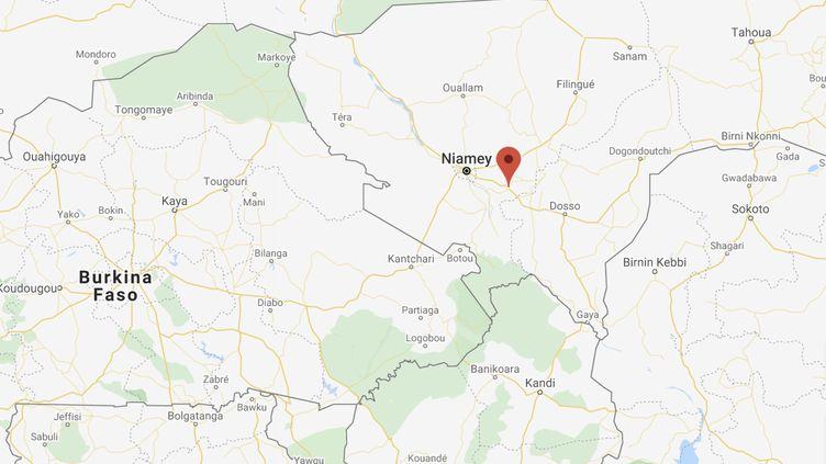 Huit personnes ont été tuées à Kouré, à une soixantaine de kilomètres de Niamey, la capitale du Niger. (GOOGLE MAPS)
