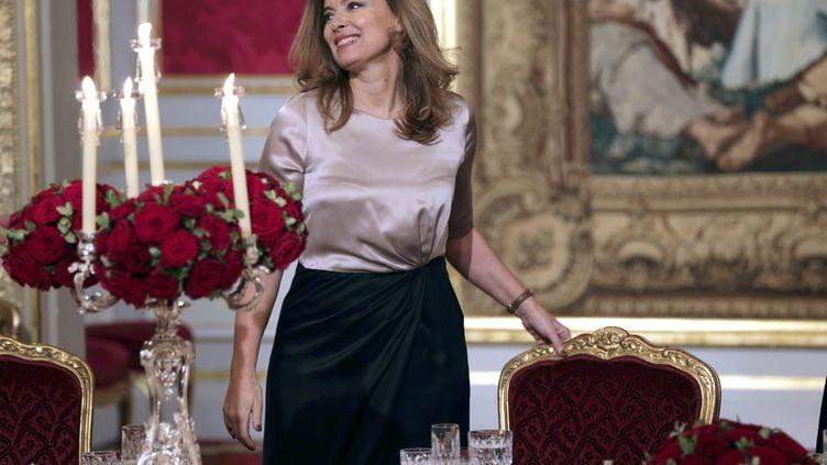 Valérie Trierweiler lors d'un dîner d'Etat au palais de l'Elysée, à Paris, le 21 novembre 2012. (PHILIPPE WOJAZER / AFP)