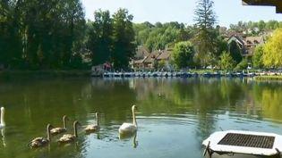 Le canal de Savières se situe entre la Savoie et l'Ain, à Chanas (Isère), un petit village entre lac et montagne. Les touristes y profitent du calme et des paysages. (FRANCE 2)