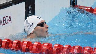 Le prometteur sprinteur français Maxime Grousset se qualifie pour les demi-finales du 100m nage libre. (YOANN CAMBEFORT / MARTI MEDIA)