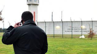 La prison de Condé-sur-Sarthe (Orne), au lendemain de l'agression de deux surveillants, le 6 mars 2019. (JEAN-FRANCOIS MONIER / AFP)