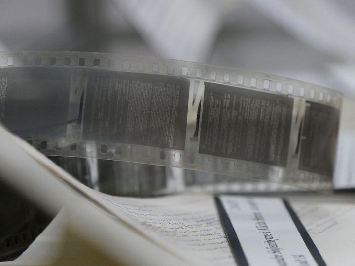 """Le manuscrit de """"L'archipel du Goulag"""", sur microfilms  (Laurence Houot / Culturebox)"""