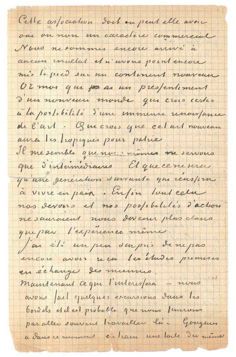 Van Gogh Vincent (1853-1890) Gauguin Paul (1848-1903) Lettre autographe signée adressée à Émile BERNARD [Arles 1er ou 2 novembre 1888], 4 pages in-8 à l'encre sur papier quadrillé. (Déchirures sans altération de texte). (MAISON DE VENTE DROUOT)