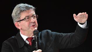 Jean-Luc Mélenchon, le 31 janvier 2017,à la Défense (Hauts-de-Seine). (CHRISTOPHE ARCHAMBAULT / AFP)