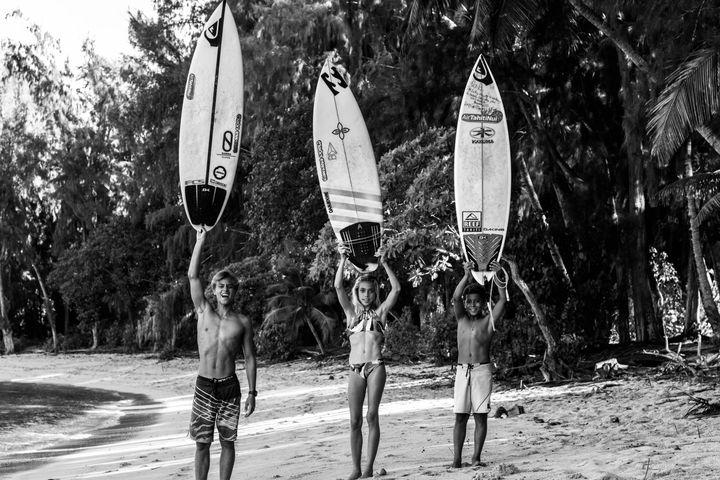 Une famille en or à Hawaï. (PIERREBEURIER)