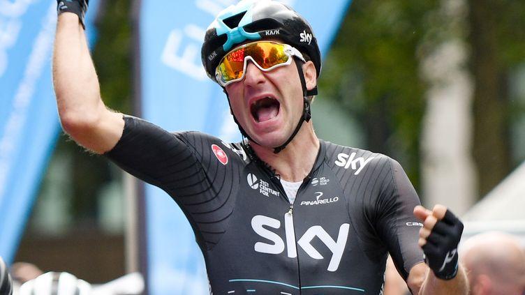 Le sprinteur italien Elia Viviani (Sky). (AXEL HEIMKEN / DPA)