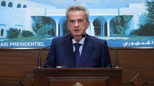 Le gouverneur de la banque centrale du Liban, Riad Salamé, le 3 juin 2021. (AFP PHOTO / HO / DALATI AND NOHRA)