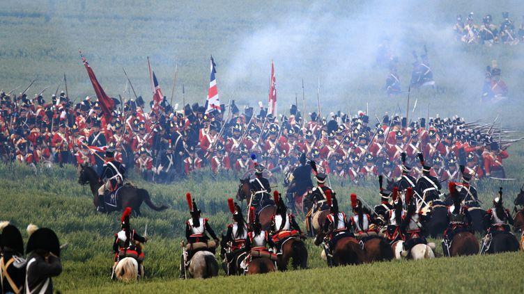 La reconstitution de la bataille de Waterloo, en Belgique, le 20 juin 2015. (BRICE CHARTON / CITIZENSIDE.COM)