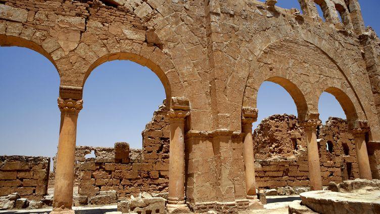Des ruines datée du Ve siècle, àResafa (Syrie). (MANUEL COHEN / AFP)