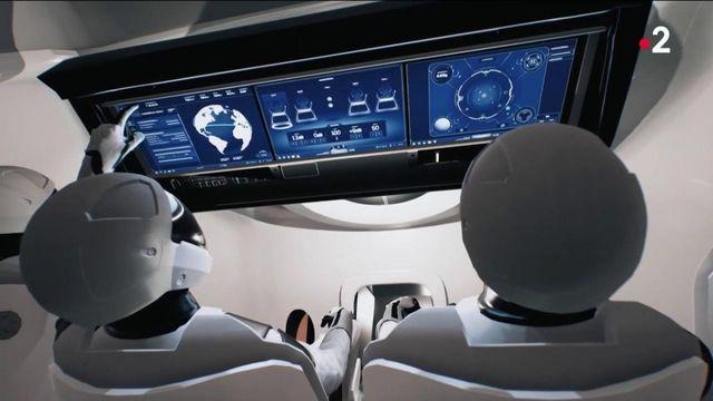 Espace : en immersion dans la capsule Crew Dragon de Space X qui accueillera Thomas Pesquet