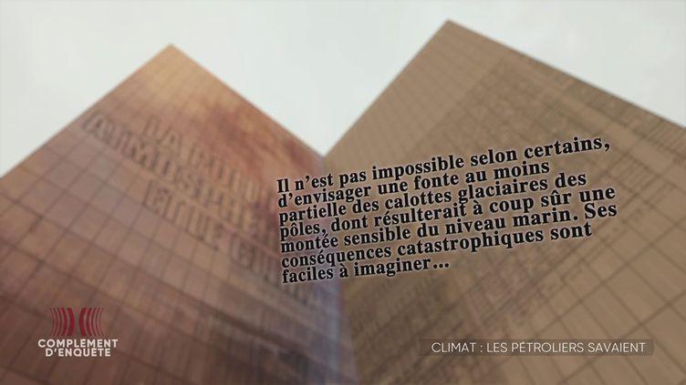 Complément d'enquête. Changement climatique : que savaient exactement les compagnies pétrolières françaises ? (COMPLÉMENT D'ENQUÊTE/FRANCE 2)