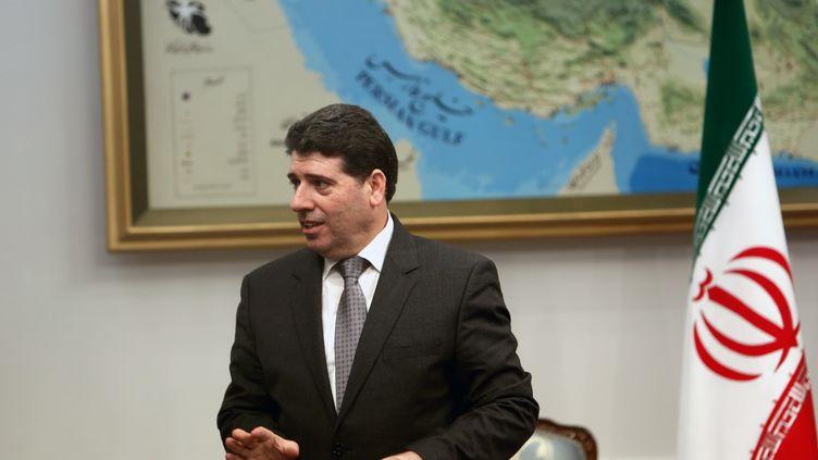 Le Premier ministre syrien,Waël al-Halaqi, le 15 janvier 2013 à Téhéran (Iran). (BEHROUZ MEHRI / AFP)