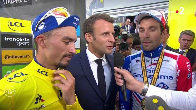 Tour de France : Macron félicite Pinot et Alaphilippe