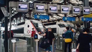 A la gare de Lyon, à Paris, le 18 août 2021. (DELPHINE LEFEBVRE / HANS LUCAS / AFP)