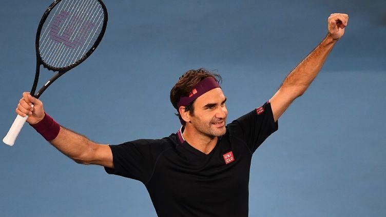 Roger Federer a frôlé l'élimination face à John Millman au 3e tour de l'Open d'Australie, le 24 janvier 2020 (WILLIAM WEST / AFP)