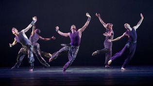 """""""Four Corners"""" chorégraphie de Ronald K. par l'Alvin Ailey Theater présenté au festival """"les étés de la danse"""" à Paris  (Paul Kolnik/AP/SIPA)"""