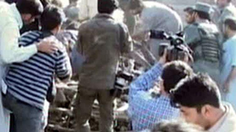 Une voiture piégée a explosé à Kaboul (8 octobre 2009) (© F2)