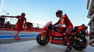 Francesco Bagnaia, pilote italien de Ducati en MotoGP. (ANDREAS SOLARO / AFP)