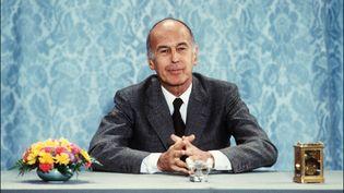 Valéry Gicard d'Estaing lors d'une conférence de presse, le 26 juin 1980 à l'Elysée. (AFP)