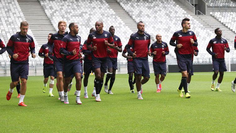 Les joueurs de Bordeaux à l'entraînement