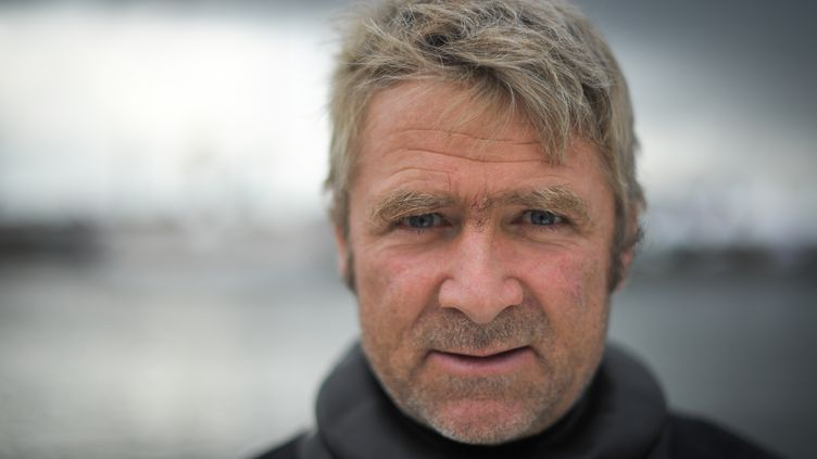 Le skipper français Yann Eliès, à Saint-Malo, en 2018. (LOIC VENANCE / AFP)