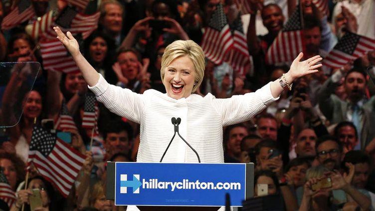 (Hillary Clinton a revendiqué sa victoire aux primaires démocrates à New York © REUTERS / Lucas Jackson)
