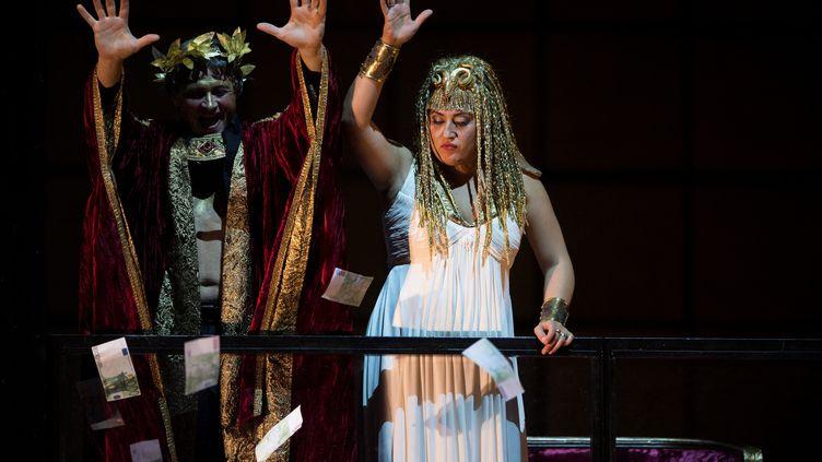 """""""Samson et Dalila"""" de Saint-Saëns dans une mise en scène """"exotique"""" à l'Opéra-Bastille en 2016 (MARTIN BUREAU / AFP)"""
