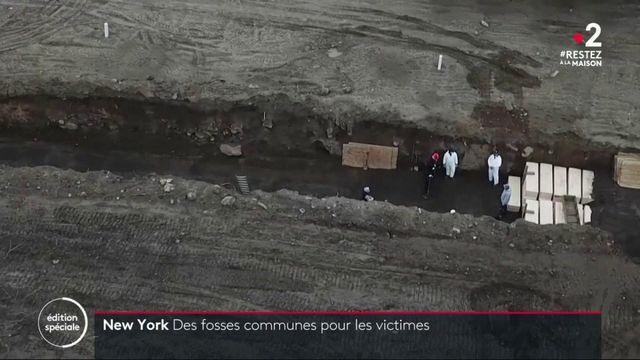 New York : les victimes du coronavirus enterrées dans des fosses communes