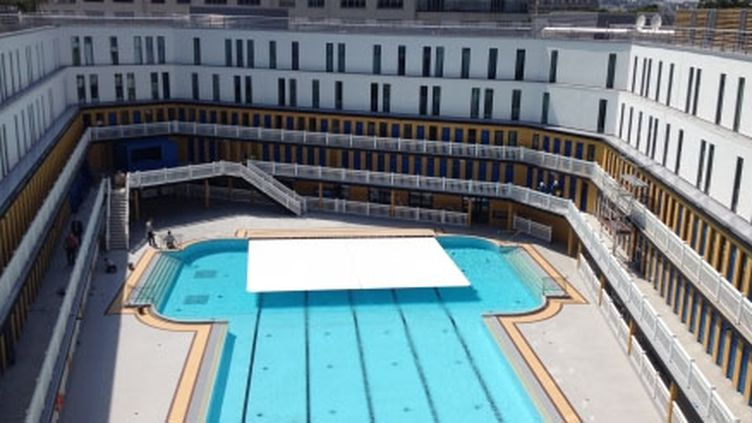 (La réouverture de la piscine Molitor à Paris ©Radiofrance)