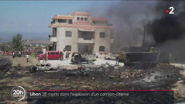 Liban : au moins 28 morts dans l'explosion d'un camion-citerne