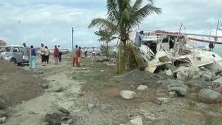 Les dégâts sur l'île deSaint-Barthélemy, balayé par l'ouragan Gonzalo, le 14 octobre 2014. (GUADELOUPE 1ÈRE)