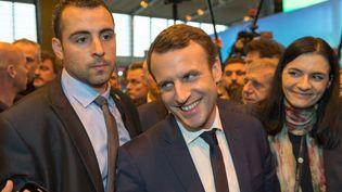 Emmanuel Macron au Salon de l'agriculture mercredi 1er mars 2017. (CITIZENSIDE/SERGE TENANI / CITIZENSIDE)