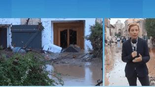 Au lendemain des inondations meurtrières survenues dans l'Aude, tout le département est paralysé. Notre journaliste Marion Mercier, en duplex de Saint-Marcel-sur-Aude, fait le point sur la situation. (FRANCEINFO)