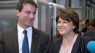 Manuel Valls et Martine Aubry, le 18 mars 2015, à Lille. (DENIS CHARLET / POOL)