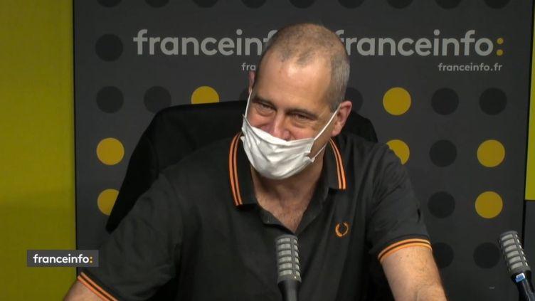 Laurent Vallet, président de l'INA. (CAPTURE ECRAN / FRANCEINFO)