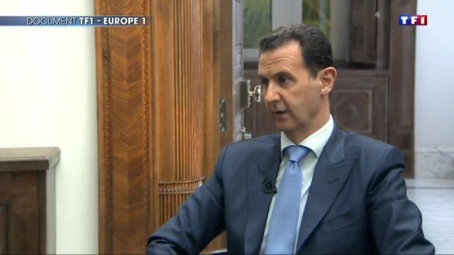 Damas : Bachar Al-Assad répond aux questions de TF1 et d'Europe 1