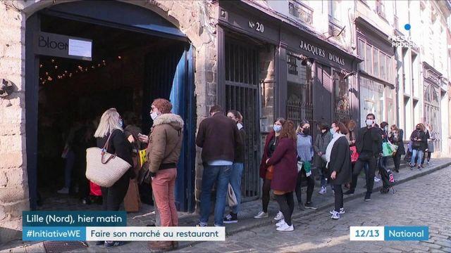 Lille : un restaurant transformé en marché pour aider les producteurs