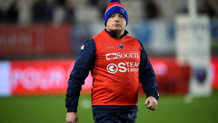 L'entraîneur de Grenoble Bernard Jackman (JEAN-PIERRE CLATOT / AFP)