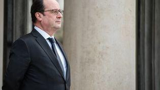 François Hollande lors d'une rencontre avec le président de Zambie à l'Elysée, à Paris, le 8 février 2016. (YANN KORBI / CITIZENSIDE.COM / AFP)