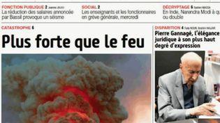 La presse du monde entier s'est émue mardi 16 avril au matin de l'incendie survenu la veille au soir à Notre-Dame. Les hommages affluent de toute part. (FRANCE 2)