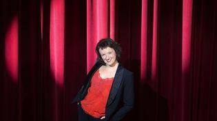 L'humoriste Anne Roumanoff au théâtre Alhambra à Paris, le 28 juillet 2015. (JOEL SAGET / AFP)