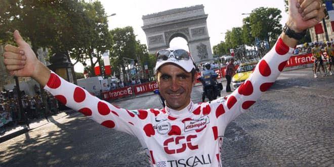 Le coureur français Laurent Jalabert, deux fois vainqueur du maillot du meilleur grimpeur