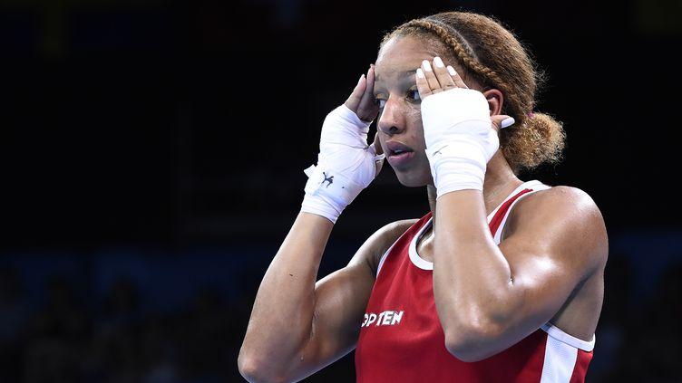La boxeuse française Estelle Mossely (TOBIAS SCHWARZ / AFP)