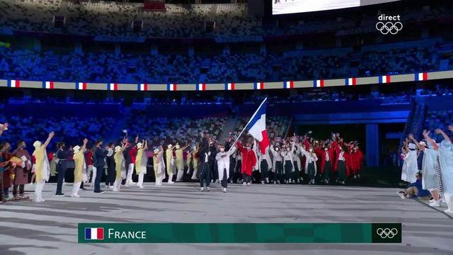 L'entrée de la délégation française