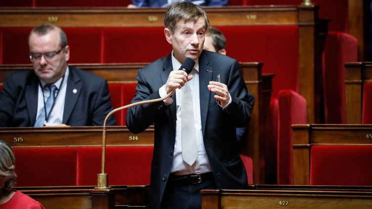 Joaquim Puyeo, député socialiste de l'Orne, à l'Assemblée nationale, le 28 juillet 2017. (THOMAS PADILLA / MAXPPP)