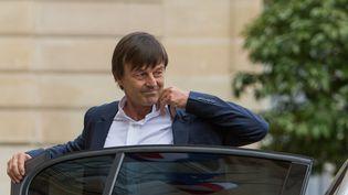 Nicolas Hulot, le 18 mai 2017 au palais de l'Elysée. (IRINA KALASHNIKOVA / AFP)