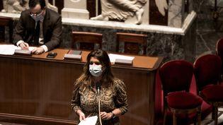 Marlène Schiappa,ministre déléguée à la Citoyenneté, à l'Assemblée nationale le 2 février 2021. (ARTHUR NICHOLAS ORCHARD / HANS LUCAS)