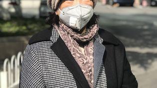 L'écrivaine chinoise Fang Fang s'adresse aux médias à Wuhan. (STR / AFP)