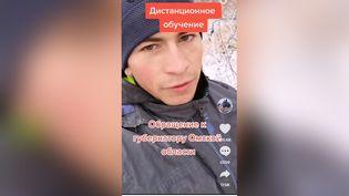 Capture d'écran de la vidéo postée sur TikTok parAlexeï Dudoladov. (CAPTURE D'ÉCRAN TIKTOK)