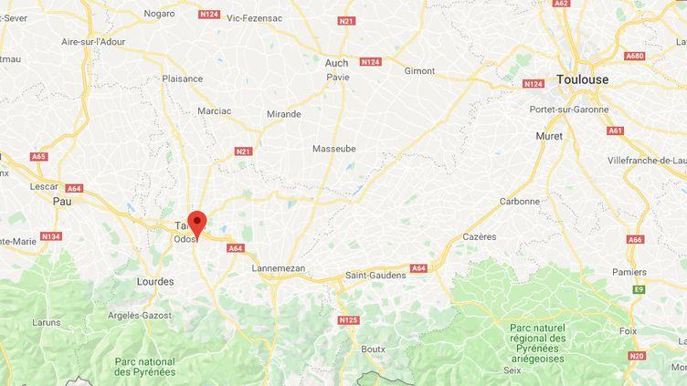 Les faits se sont produits à Salles-Adour dans les Hautes-Pyrénées. (CAPTURE ECRAN GOOGLE MAPS)